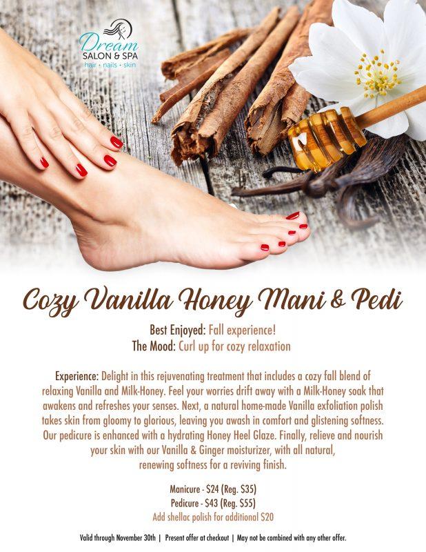 Cozy Vanilla Honey Mani & Pedi fall 2019