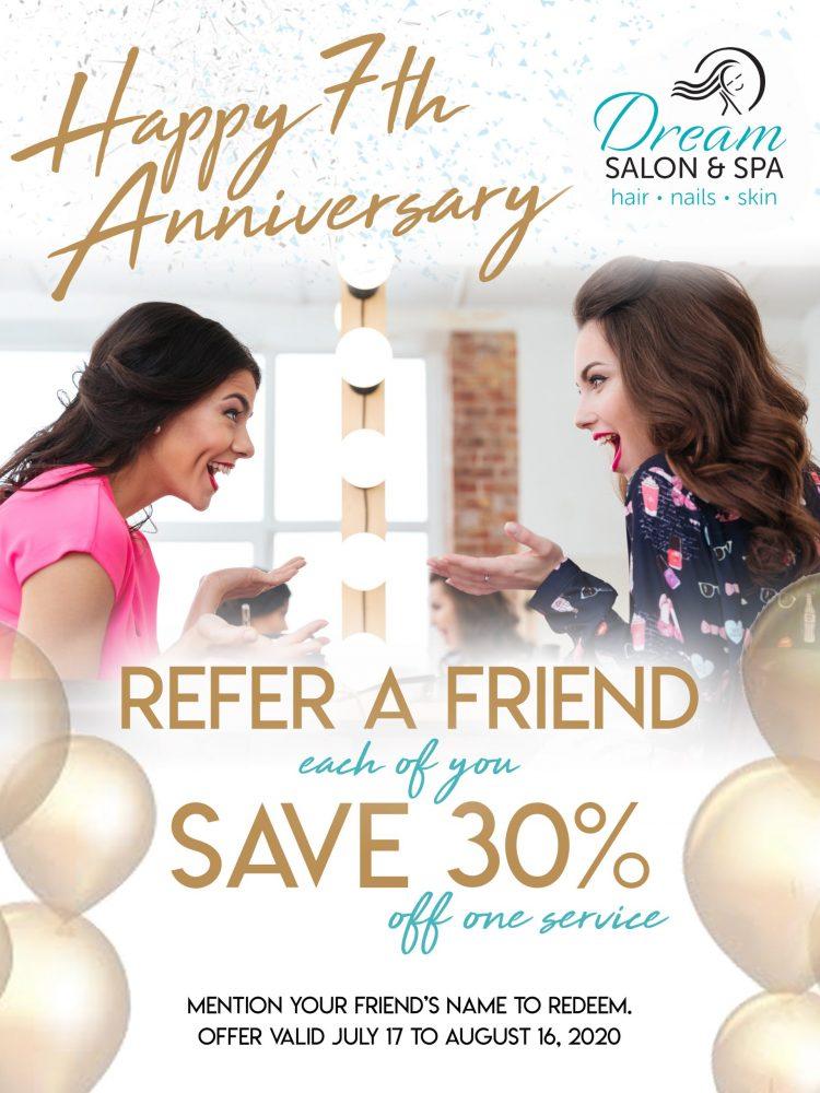 Dream - Anniversary Refer a Friend Save 30
